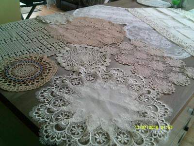 Collection Of Vintage Doilies Colourful And Decorative