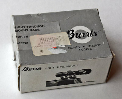 Burris THR-FN See Thru Scope Mount Base & Rings FN Mauser #410312  (258)