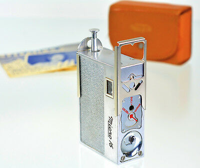 CLEAN! Whittaker Micro 16 Submini Camera W/ Case, Instructions, Eye Level Finder