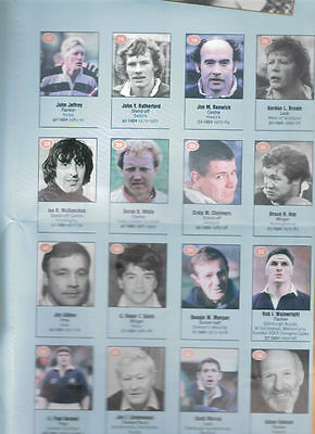 1990s SCOTTISH RUGBY, 2 POSTERS INC 100 BEST PLAYERS OF THE CENTURY