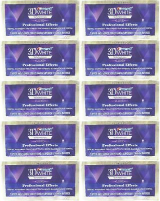 Crest 3D White Luxe Whitestrips Whitening Professional Effects 20 strip 10Pouch
