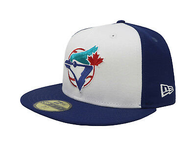 1367037d848 New Era 59Fifty Hat Mens MLB Toronto Blue Jays Coop Blue White Custom  Fitted Cap