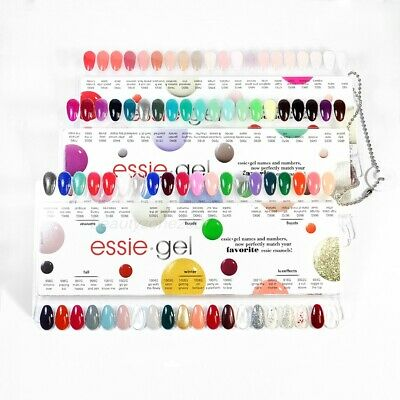 ESSIE GEL COUTURE Nail Polish Color Sample Chart Palette Display ...