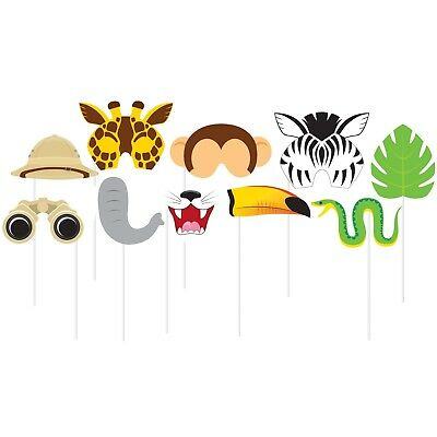 Zoo Jungle Animal Photo Booth Prop Set Pack Of 10