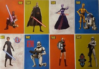 CLONE WARS : 2008  STICKERS Trading Card Set of 90  Star Wars TOPPS