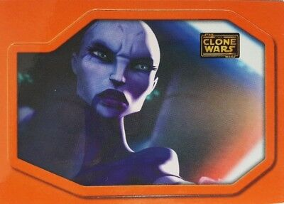 "CLONE WARS Trading Card  MAGNET Topps Star Wars 2008 "" VENTRESS """