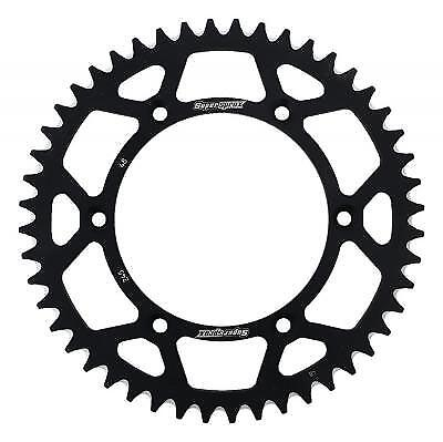 Supersprox Aluminium Black Rear Sprocket 520 48 Teeth Yamaha YZ 490 H 1987