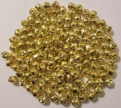 Lot of 100 Shiny Metal Jingle Bells Small 10mm Christmas Crafts Silver or Gold