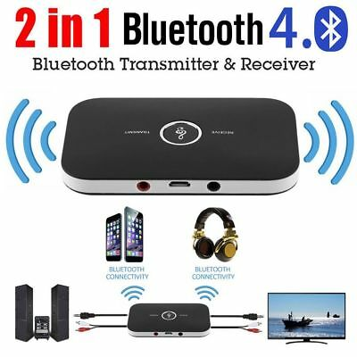 2in1 Bluetooth Wireless Audio Transmitter Receiver 3.5mm Music Adapter TV HIFI