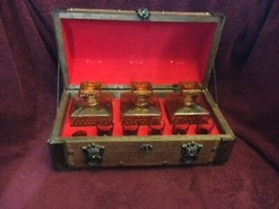 Rare Vintage Pirates Chest Liquor Cabinet From Japan: Decanters And Shot Glasses