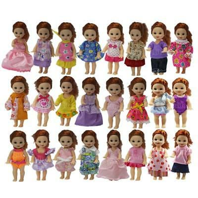 Lot 5 Sets Handmade Cute Fashion Party Outfit Dress for 4 inch Doll Clothes Gift