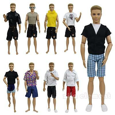 LOT 5 Set SUMMER Beach Casual Wear Handmade Clothes Outfit for Boy Friend Doll