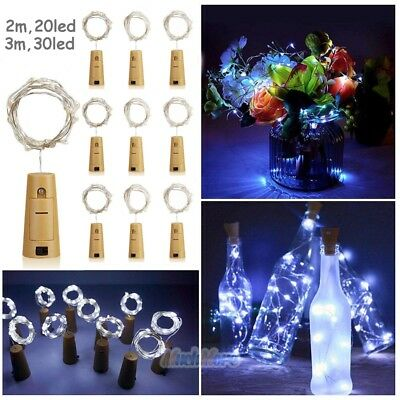 9Pack 2M 3M Cork Shaped LED Copper Wire String Light Wine Bottle For Xmas Decor