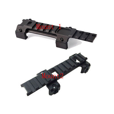 120mm+128mm Long Base Mount 20mm Rail Adapter For Hunting Airsoft Scope New