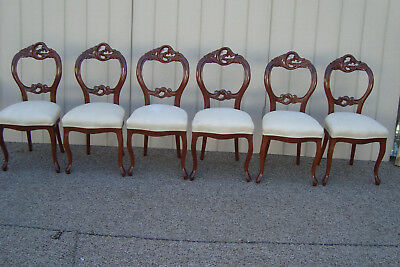 59184  Set 6 Victorian Style Mahogany  Dining Chairs Chair s
