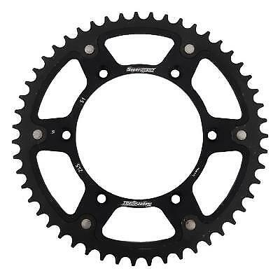 Supersprox Stealth Black Rear Sprocket 520 Pitch / 51 Teeth Yamaha YZ 490 H 1987
