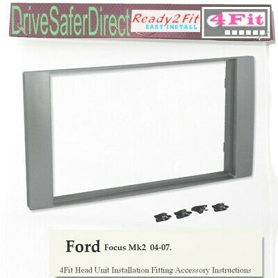 CT23FD28 CD RADIO STEREO FACIA FASCIA DOUBLE DIN PLATE TRIM KIT FITS FORD FOCUS