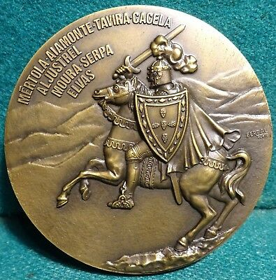 MEDIEVAL KNIGHT / KING D. SANCHO II - CHRISTIAN RECONQUEST 80mm BRONZE MEDAL