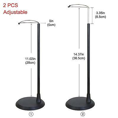 2 Pcs Doll Stand Support Display Holder Accessories for 14-18'' Girl Doll Black