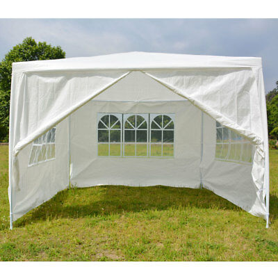 10' x 10' Party Tent Outdoor Shelter Gazebo Wedding Canopy W/3 Sidewalls 1 Door