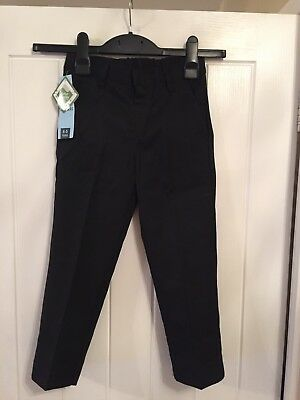 Brand New Joblot Of 2 Boys Black School Trousers Age 4-5 By Lily & Dan