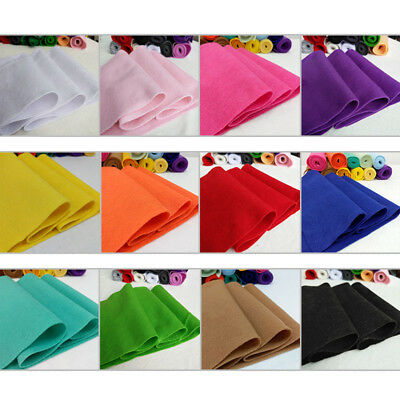 Roll By the Yard Soft Felt Fabric Non woven Sheet Patchwork Craft DIY Material#