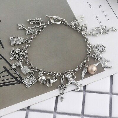 Women Harry Potter Combination Bracelet Ancient Silver Chain Summer Beach Bangle