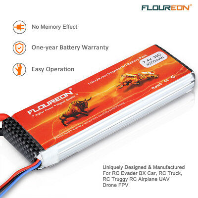 2S1P 7.4V 4000mAh 30C LiPo Battery for RC Evader BX Car Truck Truggy UAV Drone