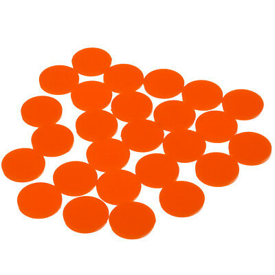 25x Einkaufswagenchip Wertmarke Pfandmarke Chip jeton Event Party Fest - Orange