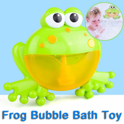 Bubble Frog Crab Automatic Shower Machine Blower Maker Bath Music Toy Kids Baby