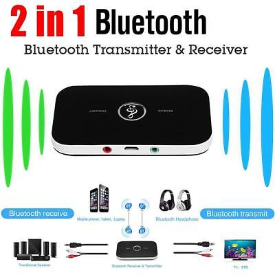 2 in 1 Wireless Bluetooth Audio Transmitter Receiver A2DP 3.5mm Aux Adapter