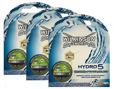 12 Wilkinson Sword Hydro 5 Groomer Power Select Rasierklingen 3 x 4er Pack