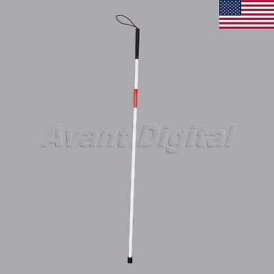 Medical Deluxe Folding Blind Cane Reflective Red Mobility Aids 122cm US STOCK