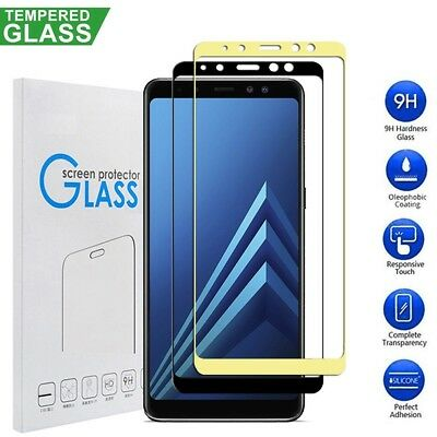 9H 3D Full Curved Screen Protector For Samsung Galaxy A8 A6 2018 Tempered Glass
