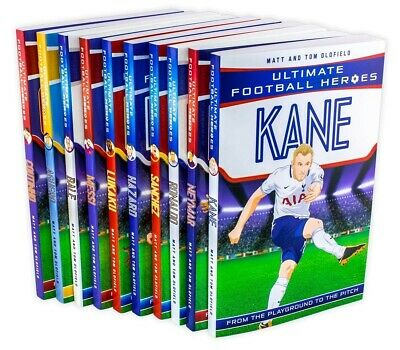 Ultimate Football Heroes Collection 10 Books Set Pack Messi, Neymar Ronaldo Kane