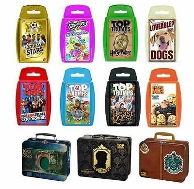 Top Trumps Card Game - Large Range Of The Latest Packs Xmas Birthday Gift