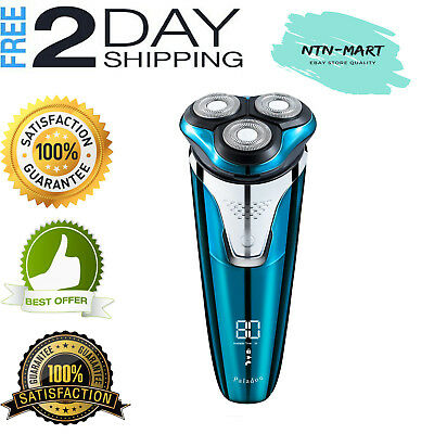 Electric Rotary Razor Shavers for Men Portable USB Rechargeable Beard Trimmer US