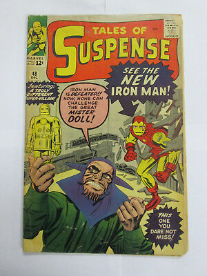 TALES OF SUSPENSE #48  1st NEW IRON MAN -ARMOR KEY  JACK KIRBY COVER - 1963