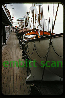 Original Slide, Aboard the Canadian Pacific Liner SS Princess Patricia 1950s, B