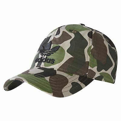 adidas ORIGINALS CAMO BASEBALL CAP HAT MEN'S WOMEN'S KIDS TREFOIL CAMOUFLAGE