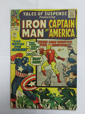 Tales Of Suspense #60   Captain America Iron Man 12c 1964 NO RESERVE