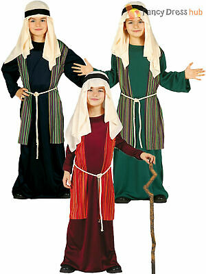 Childs Shepherd Joseph Costume Christmas Fancy Dress Kids Boys Nativity Outfit