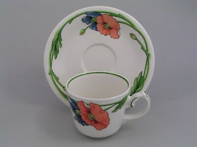 Villeroy & Boch Amapola Coffee Cup And Saucer.