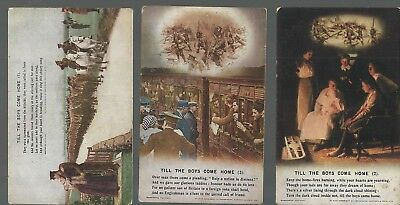 Till the Boys Come Home - Three Unposted Postcards - Bamforth 4872 Set of 3