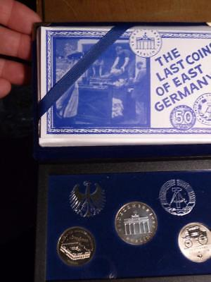 Last Of East Germany Coins 1990, 2-5 marks& 20 Marks Uncirculated SKU#10695