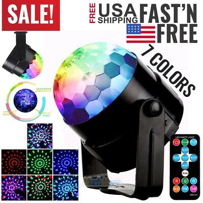 RGB Disco Party Lights Strobe LED DJ Ball Sound Activated Bulb Dance Lamp 2018