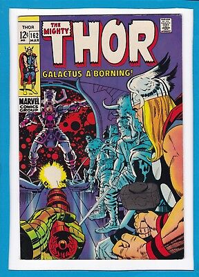 Mighty Thor #162_March 1969_Very Fine_Galactus Origin_Silver Age Marvel!