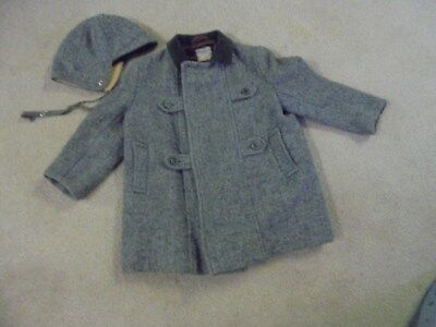 Vintage Child's Wool Coat and Hat Young World Bloomingdales Made in England