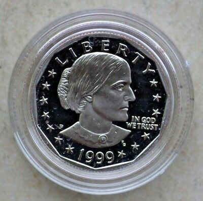 1999 Susan B. Anthony Proof Dollar Coin US Mint in original Box and COA