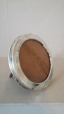 Beautiful Antique 1907 Planished Design  Hallmarked Silver Photo Frame